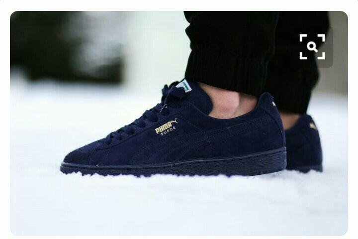 online store b36af a86f4 Navy blue pumas | Shoes | Puma suede shoes, Puma suede, Puma ...