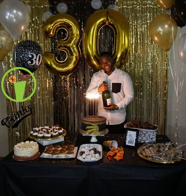 Black And Gold Theme Dirtythirty Decorations Under 60 Bucks Birthday Decorations For Men 30th Birthday Decorations Birthday Party Decorations