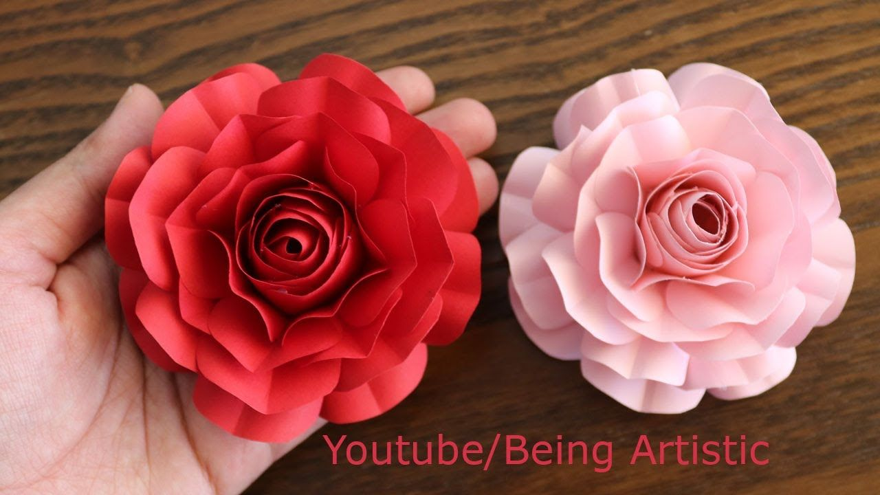 Easy Way To Make Realistic Paper Rose Paper Flower Paper Craft