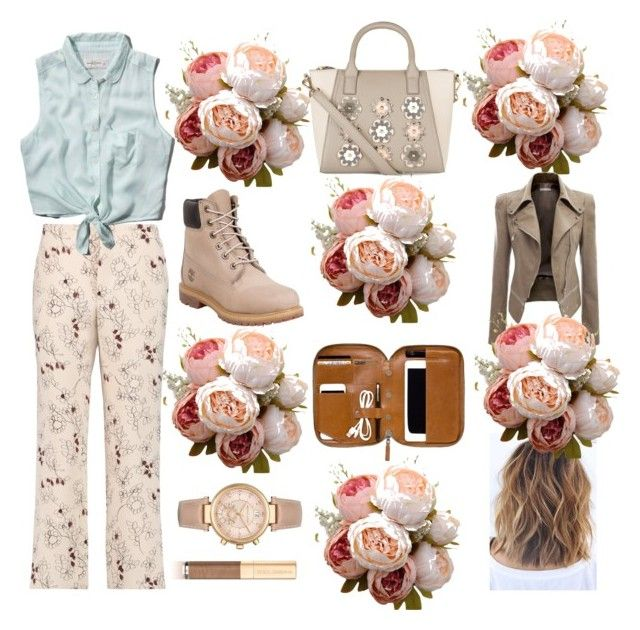 """autumn florals"" by libbyclarke9 ❤ liked on Polyvore featuring New Look, Marni, Abercrombie & Fitch, Timberland, Michael Kors and Dolce&Gabbana"
