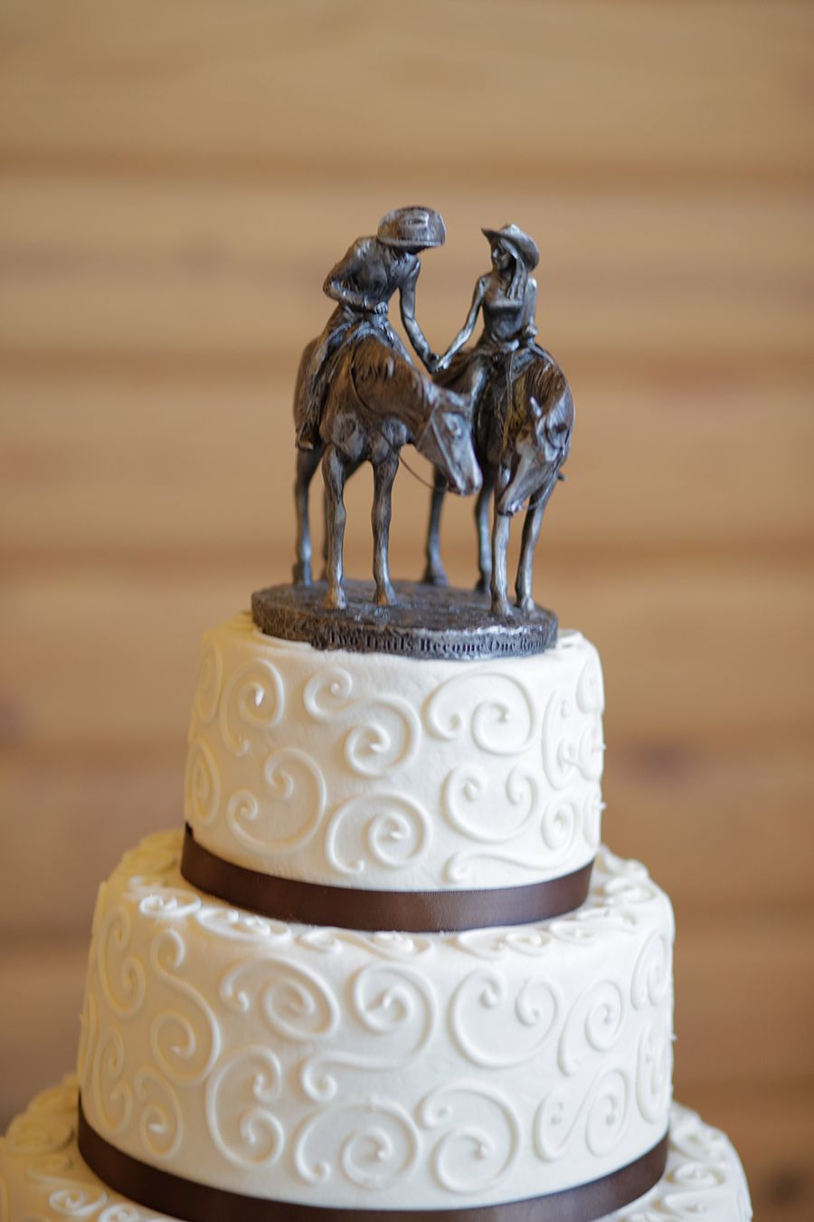 I Like The Design On This Cake Only With Flowers As Topper Cowboy Wedding