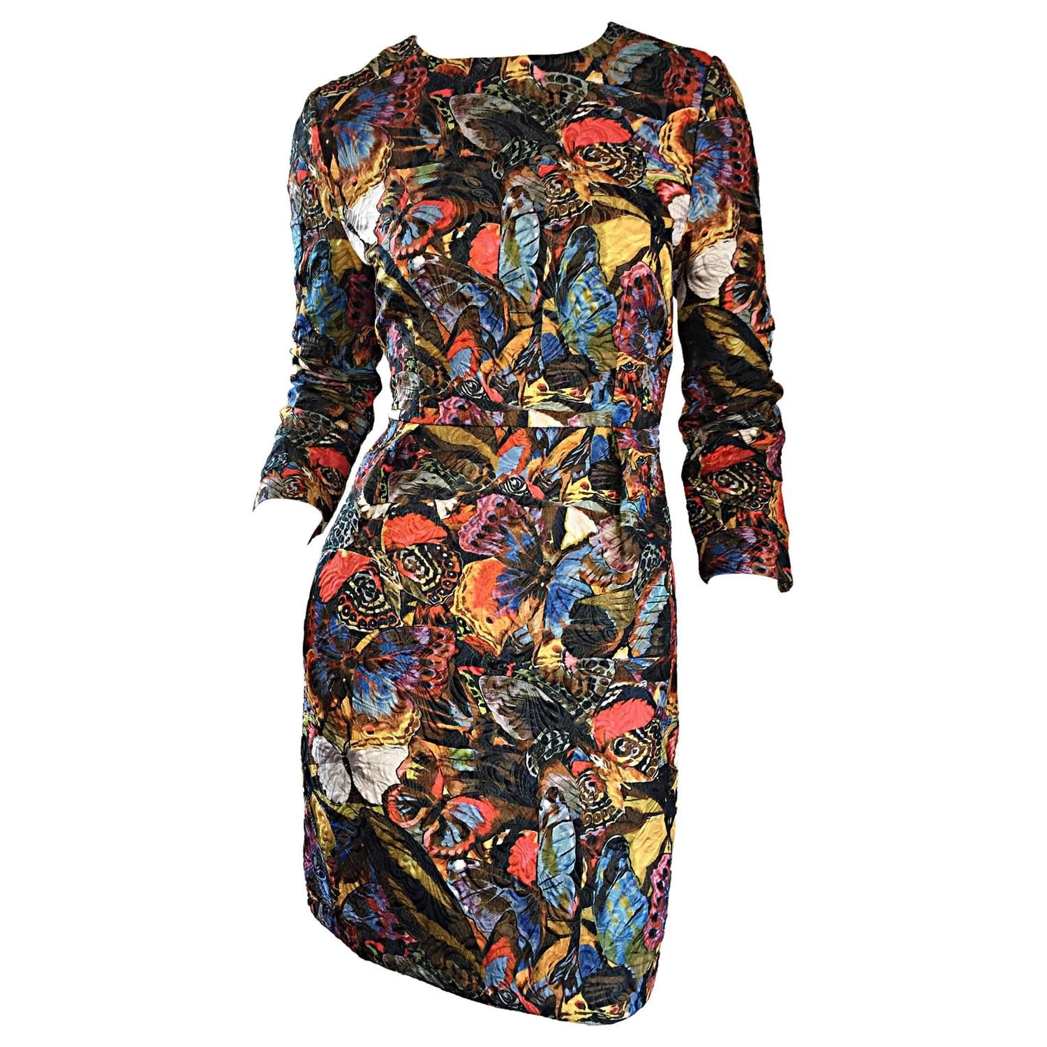 1dd73605499 Valentino Sold Out Butterfly Print Beautiful Runway Sample Dress Rt. $4,300  | From a collection