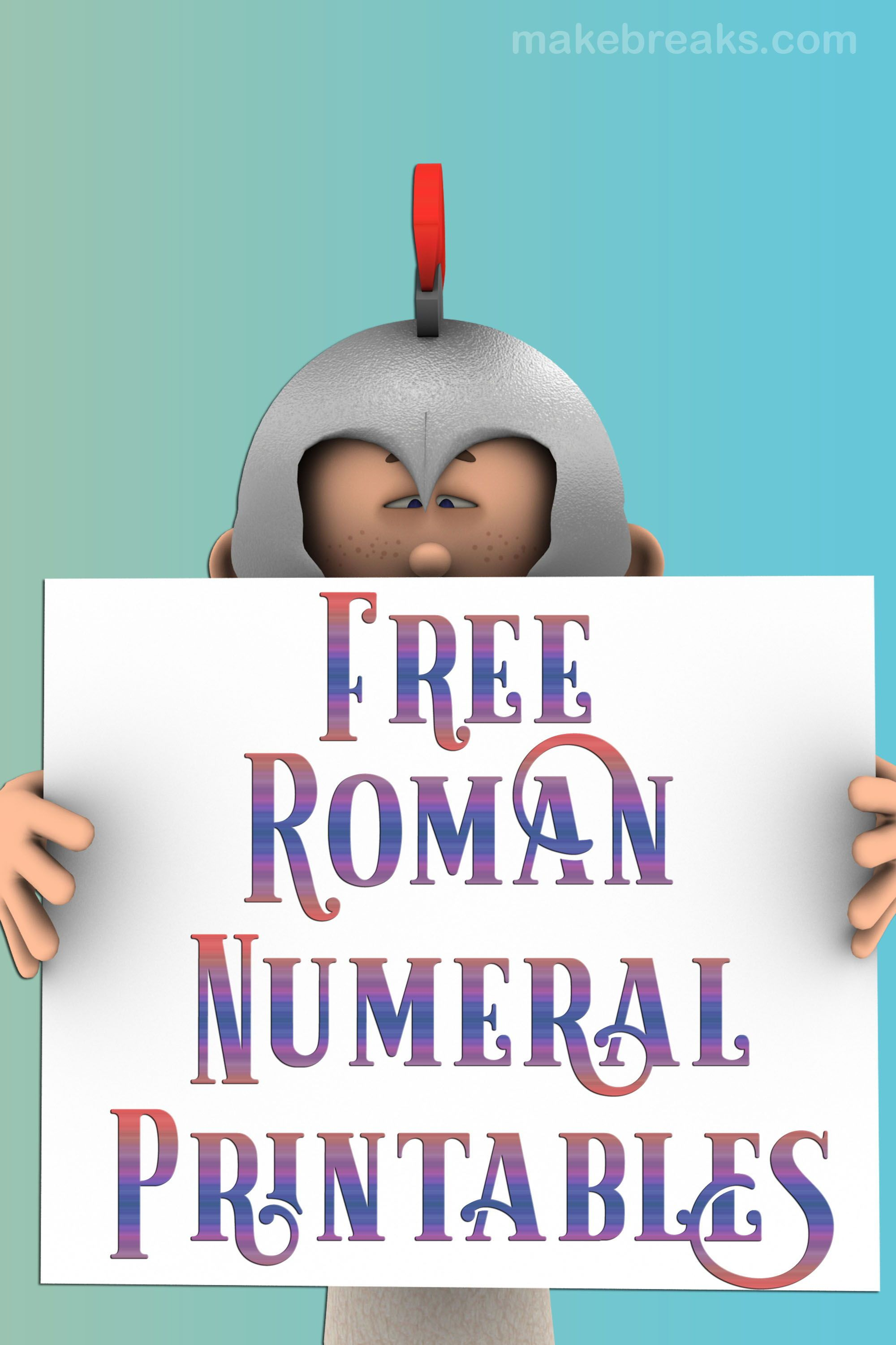 Free Printable Roman Numeral Templates And Pages