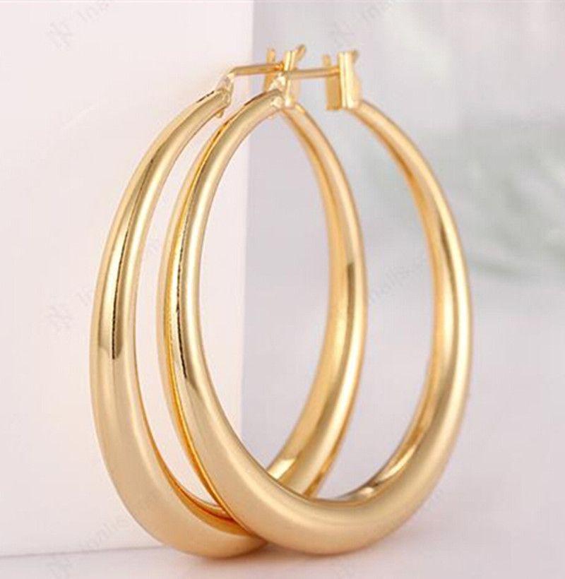 Gold New Earrings 18k Hoop For Women Large
