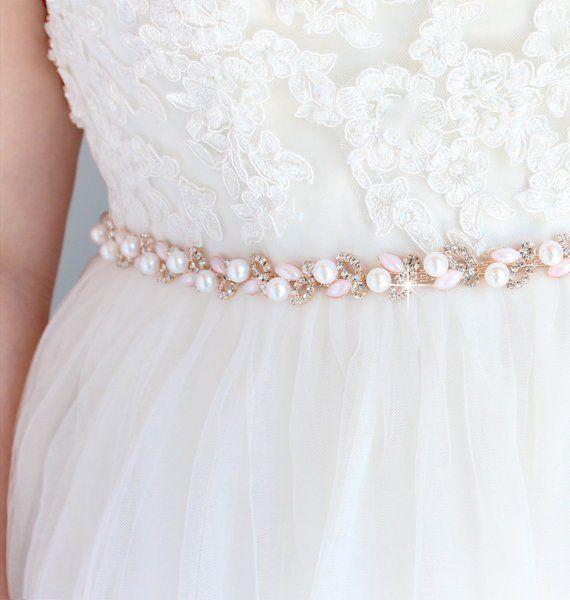 Sale Pearl Bridal Belt Bridesmaid Belt Pink Wedding Belt Etsy In 2020 Wedding Dress Belt Bridesmaid Belt Wedding Dresses