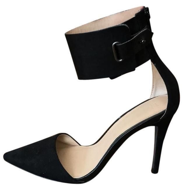 d7d4664c1f6 Zara -Black Pointed Toe Pump- Thick Ankle Strap- 4
