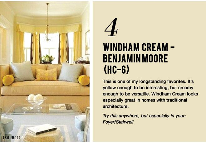 7 Paint Colors That Work Almost Anywhere Benjamin Moore Windham Cream Hc 6 Creamyyellow Foyer Stairwell