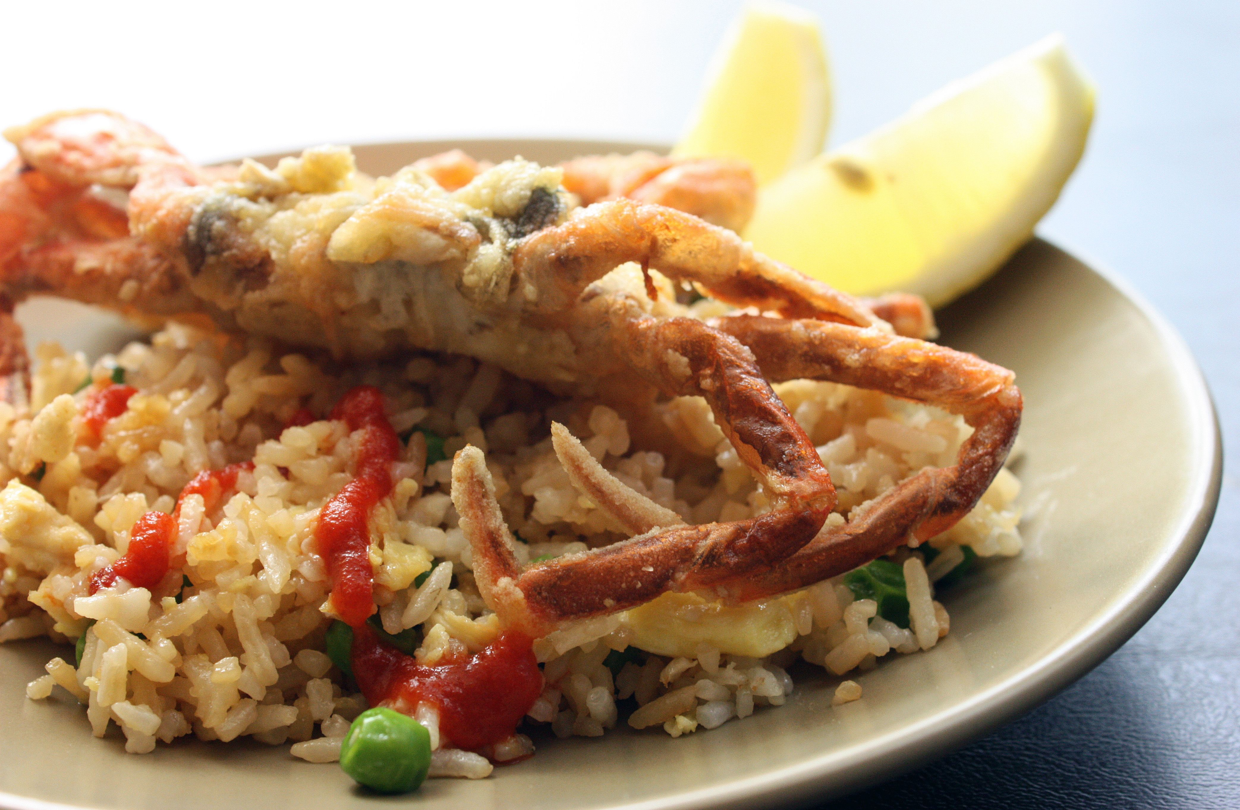 Image result for crab fried rice soft shell crabs