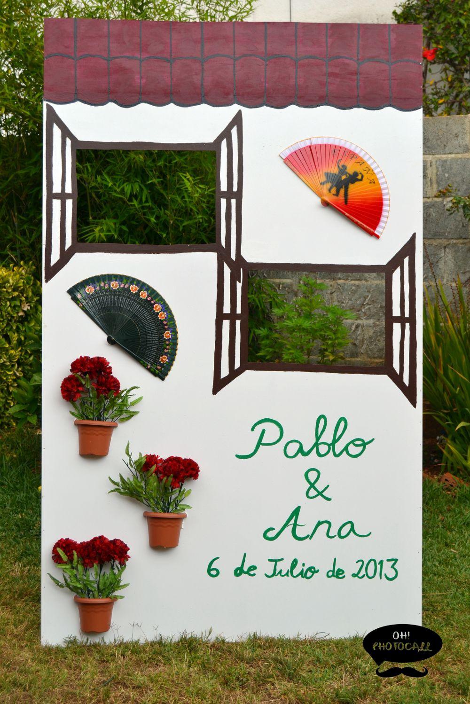 Photocall face andaluz nerea pinterest fotocol boda for Fotocol de bodas