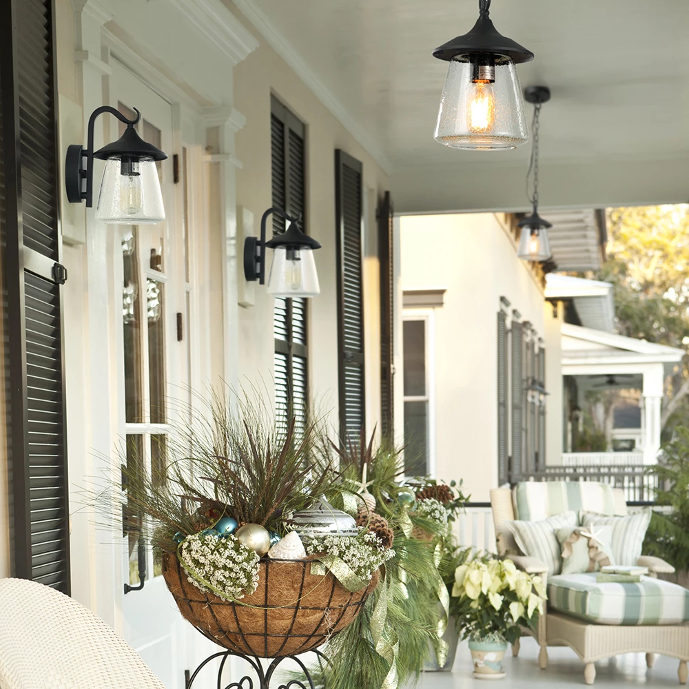 Seeded Glass Pendant Outdoor Hanging Lights Outdoor Porch Lights Hanging Porch Lights