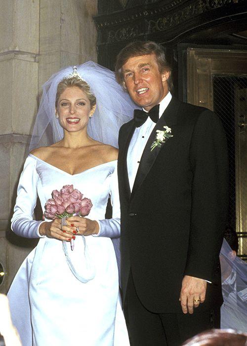 Donald Trump Wedding Pictures Ivana Trump Marla Maples Melania