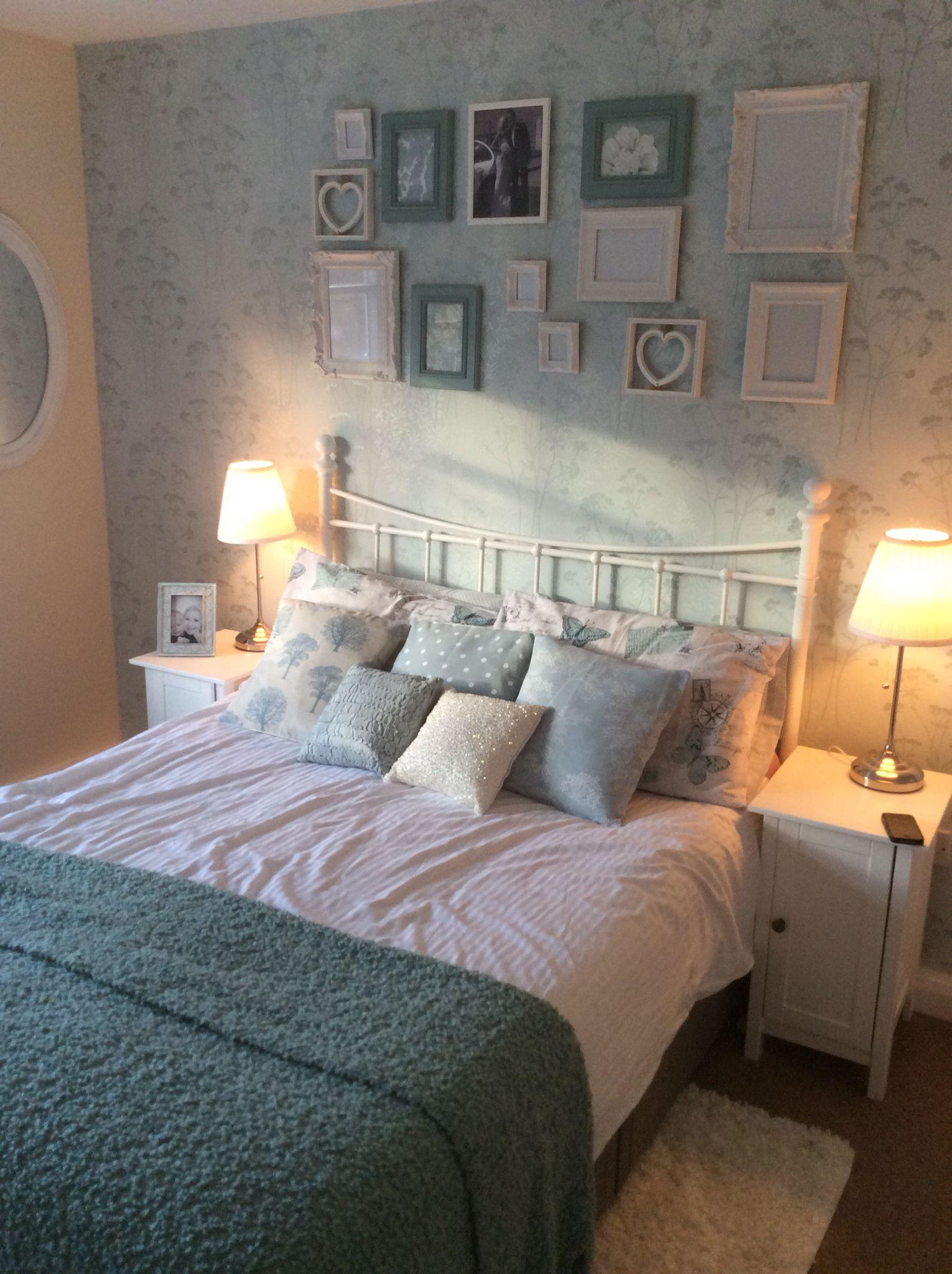 Shabby Chic Duck Egg Bedroom On A Budget #shabbychicbedroomsonabudget