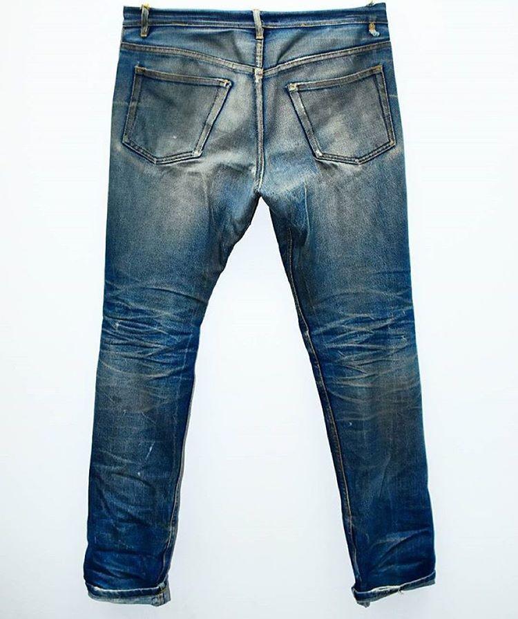 This Beautiful APC New Cure. 2 years of wear, 1 soak, 2 washes & 1 sea wash #denim #jeans #indigo #selvedge #menswear #fashion