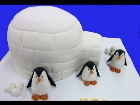 Tutorial: Tarta de fondant con pingüinos