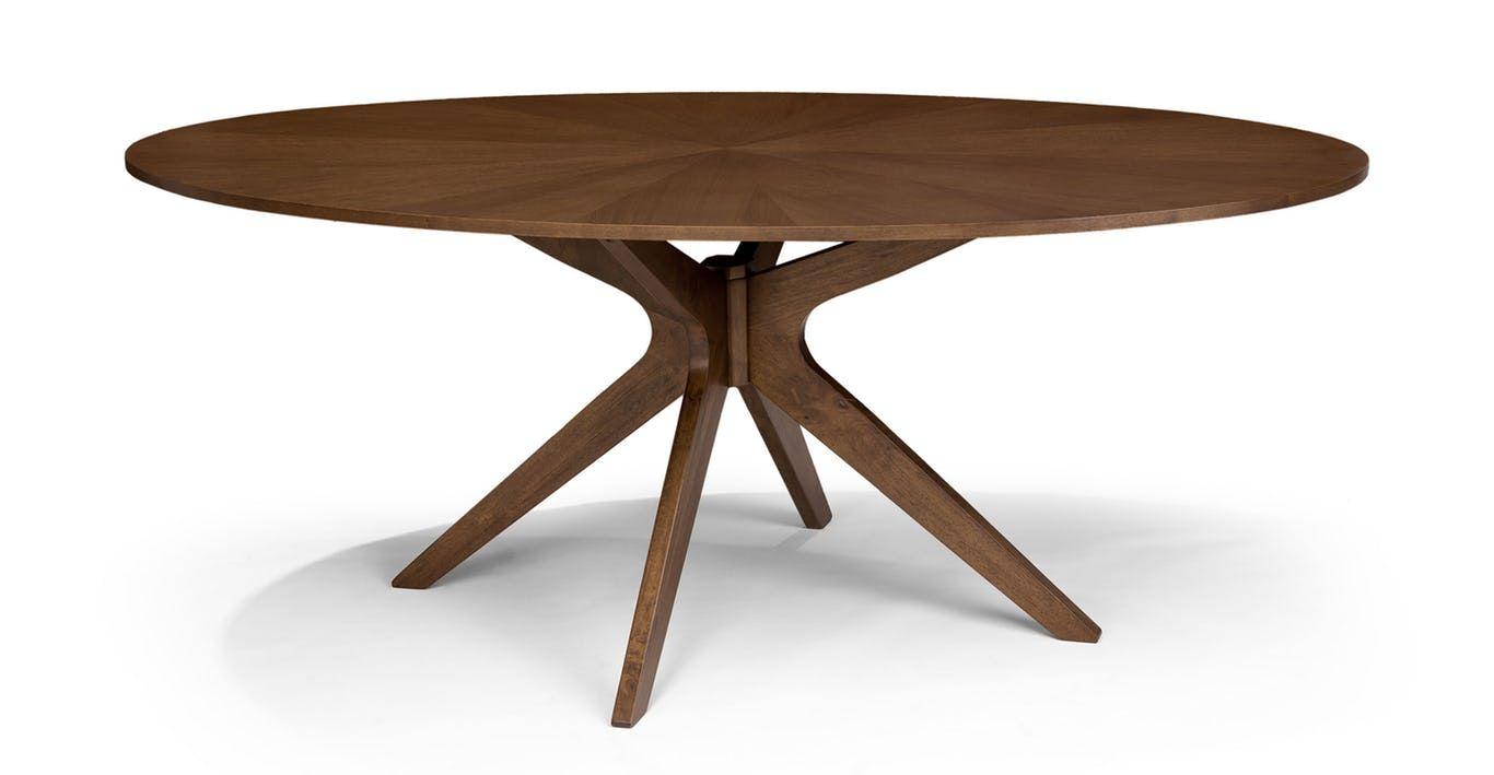 Conan Oval Dining Table Oval Table Dining Midcentury Modern Dining Table Oval Wood Dining Table