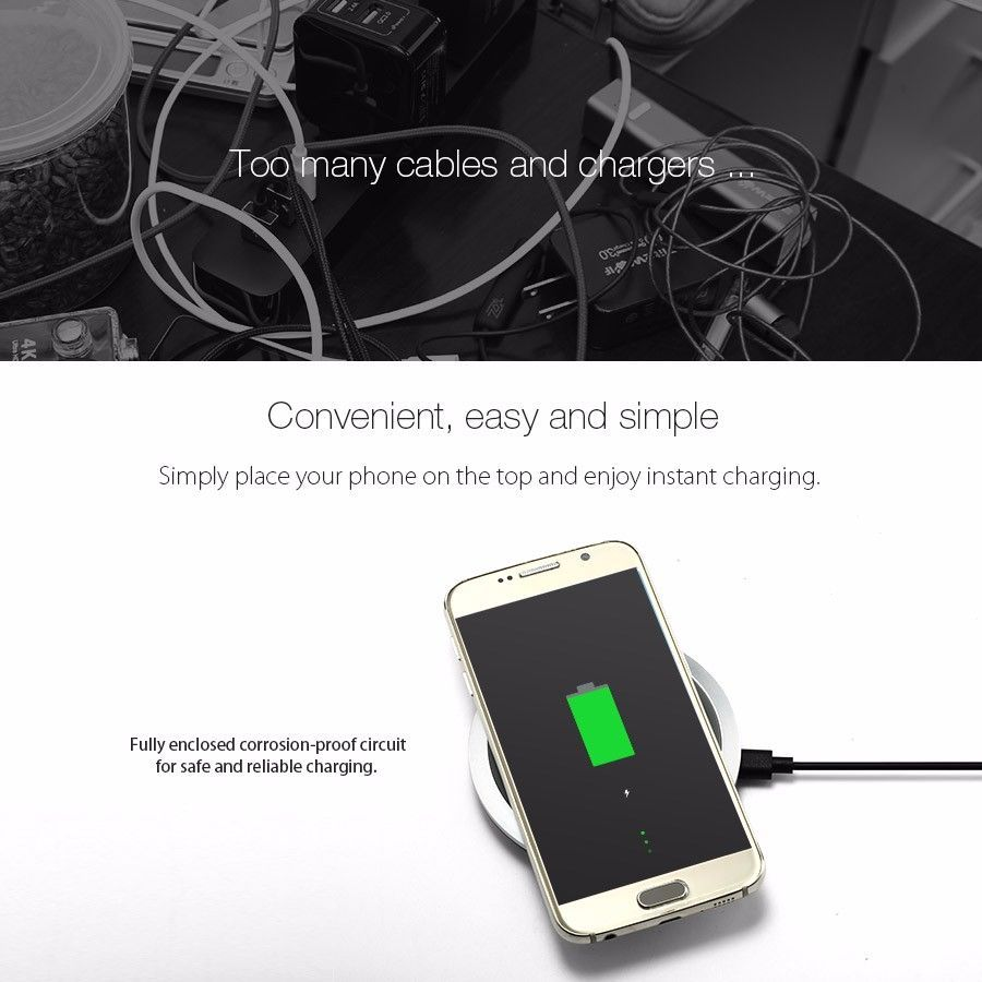 Leather Qi Wireless Fast Charger For Iphone Samsung Devices Simple Mobile Phone Battery