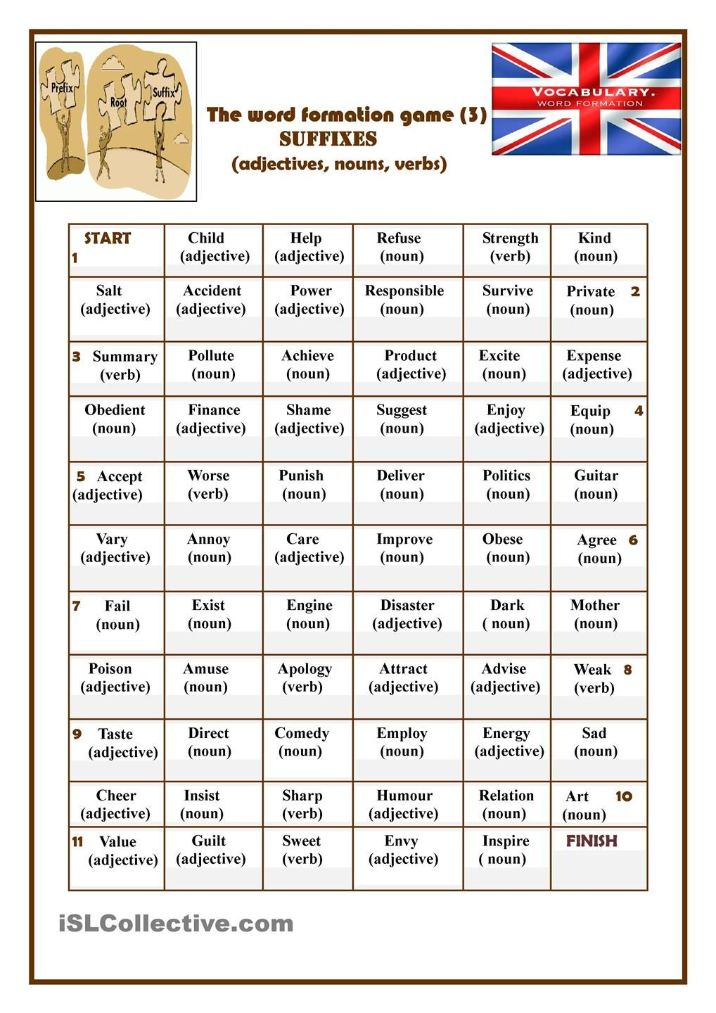 The Word Formation Game 3 Suffixes Word Formation Teaching Suffixes Words [ 1440 x 1018 Pixel ]