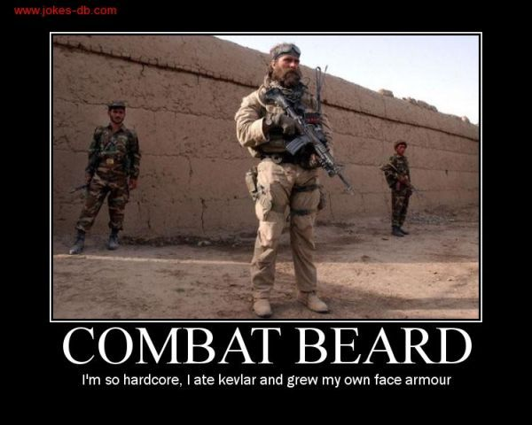 Combat Beard Military Humor Tactical Beard Beard