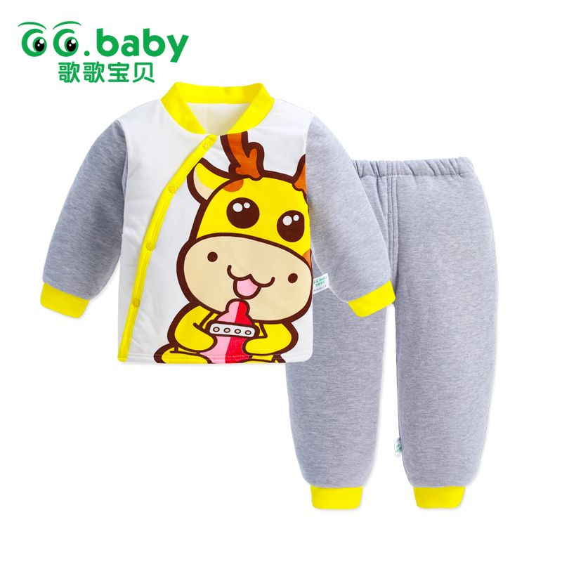 0da4dc102 Click to Buy    Winter Baby Boy Clothing Set Cotton Thermal Baby ...