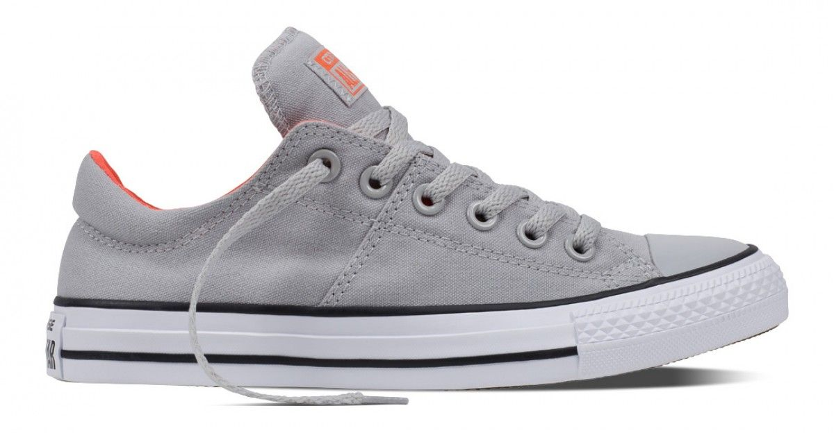 b1091393b93 Converse Women s Chuck Taylor All Star Madison Low Top Ash Grey Wild Mango  White