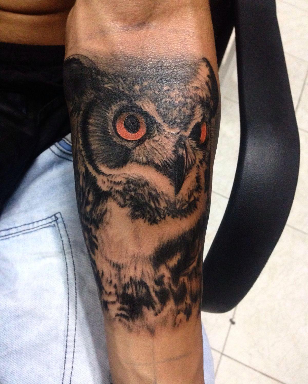 owl tattoo instagram: juanvillata2