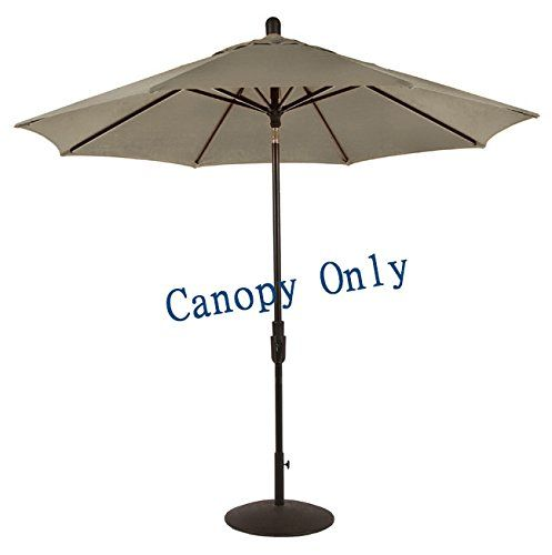 Sunbrella® Canopy Replacement For 9ft 8 Ribs Patio Umbrella  Taupe (Canopy  Only)
