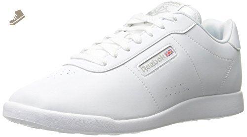 d5a95707f7db5 Reebok Women's Princess Lite Classic Shoe, White/Wide D, 7.5 M US ...