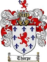 $8.99 Thorpe Family Crest / Thorpe Coat of Arms - Download Family Crests
