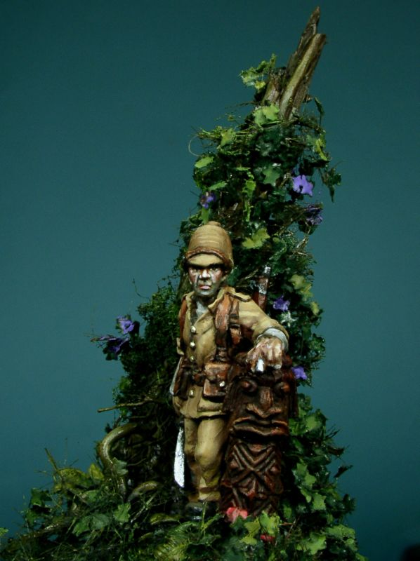 A French Marine on New Caledonia. a 28mm figure painted by Oniria