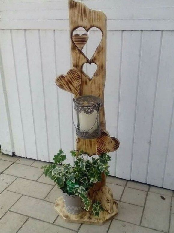 Holz deko f r garten selber machen #gartendesign #garten # ...