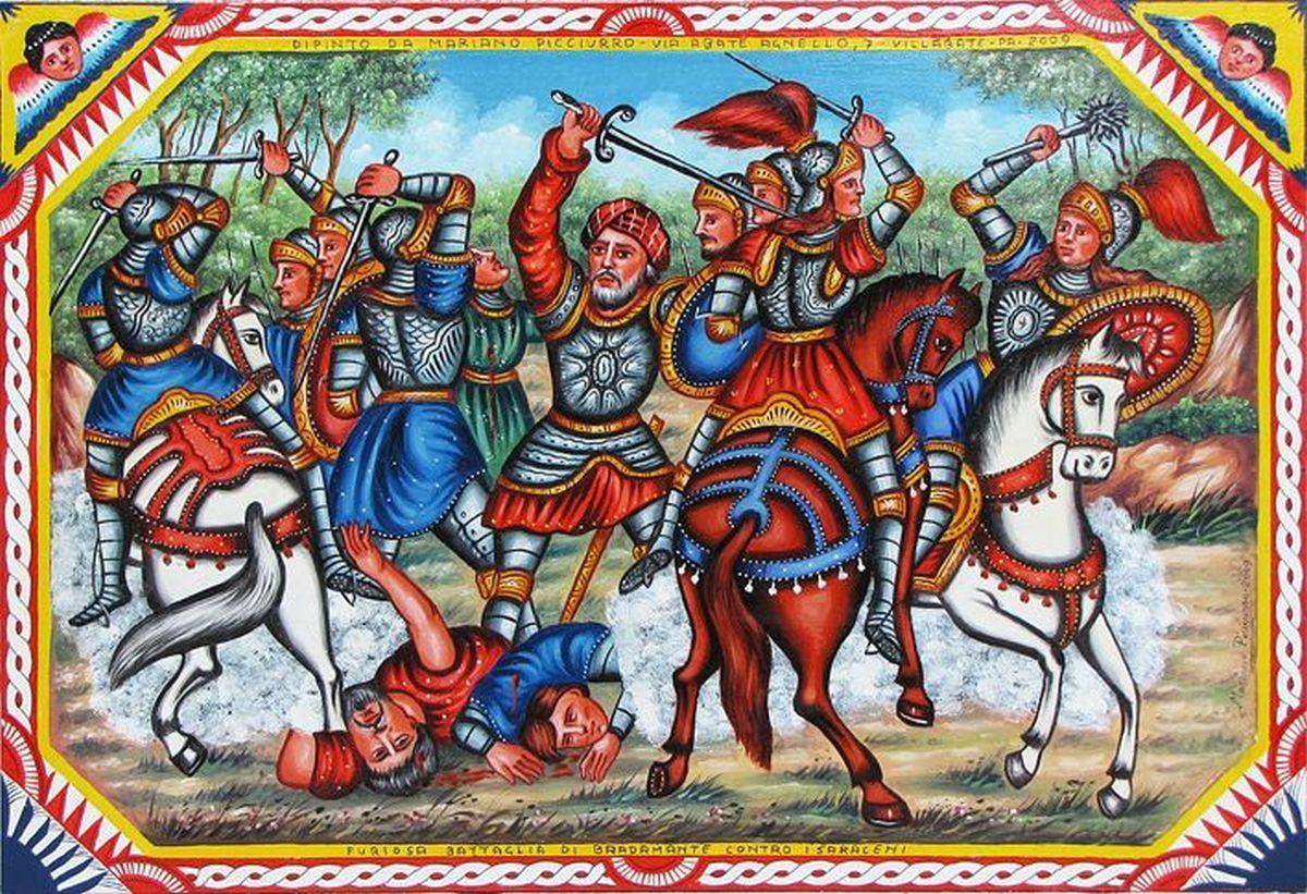 24 Picciurro Bradamante contro i Saraceni