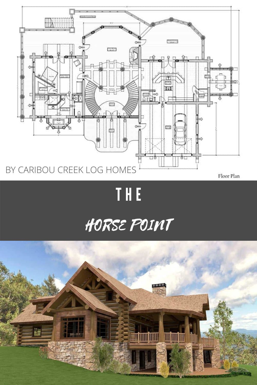 Luxury Log Home Floor Plan Design By Caribou Creek Log Homes In 2020 Log Home Floor Plans Log Homes Log Home Builders