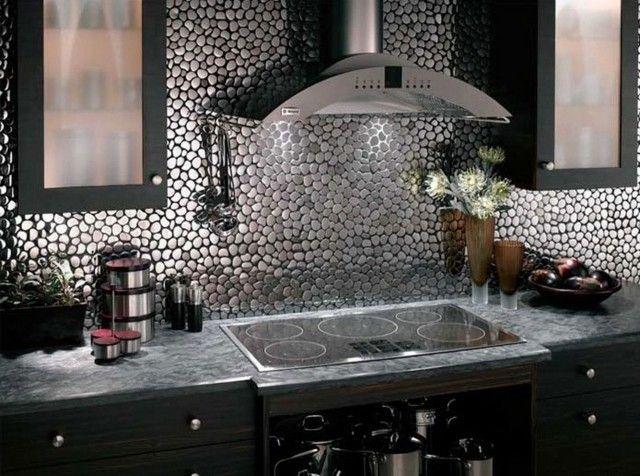 Décoration Cuisine Idées Dosseret Pour Embellir Lespace - Carrelage a coller cuisine pour idees de deco de cuisine