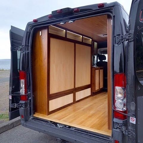 I Like The Murphy Bed Nice Woodwork With Storage Above And Below Find This Pin More On Conversion Van Ideas