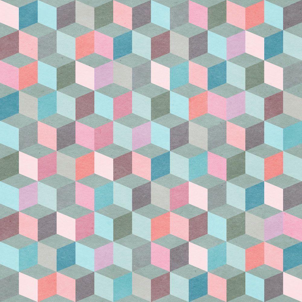Papel de parede geometrico 1159 pattern pinterest - Papel para paredes ...