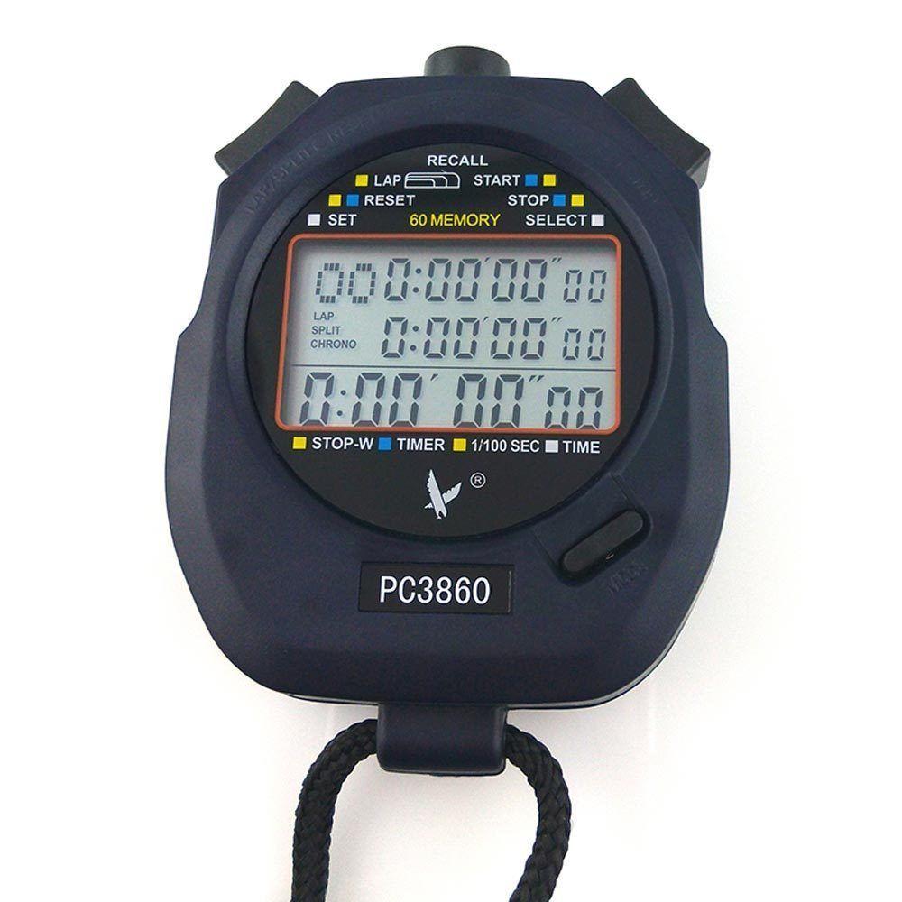 Handheld Large Screen 60 Split Recallable Memory Sports Stopwatch Timer U3860 Stopwatch Timer Stopwatch Digital Timer