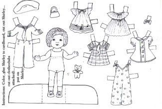 photo regarding Printable Paper Dolls Templates referred to as Wonderful Obtain: 10 Black-and-White Printable Paper Dolls