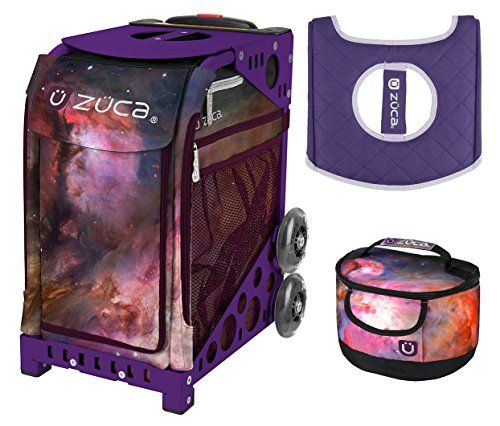 Zuca Sport Bag Galaxy with Gift Lunchbox and Seat Cover Purple Frame      Click on the image for additional details. (This is an affiliate link)   SkateBags a545560c4370e