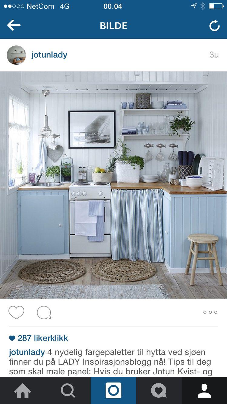 Koselig Hyttekjøkken | my she shed | Pinterest | Kitchens