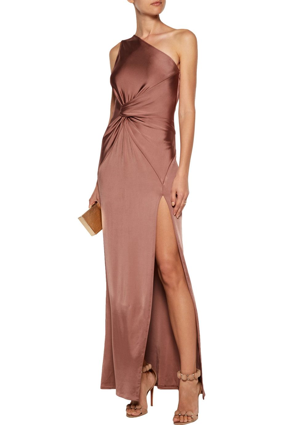 a966fa24843a Shop on-sale Cushnie et Ochs Denise one-shoulder twisted stretch  satin-jersey gown. Browse other discount designer Dresses   more on The  Most Fashionable ...