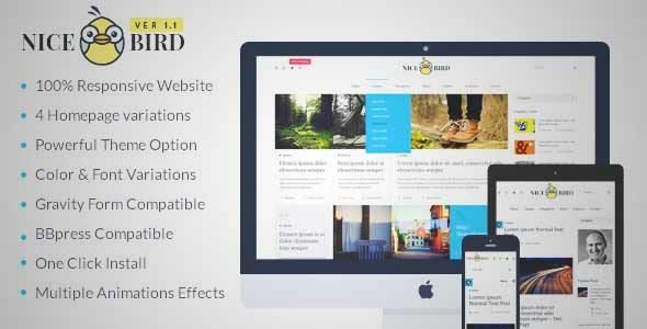 Download and review of NiceBird- WordPress Blog Themes for Blog ...
