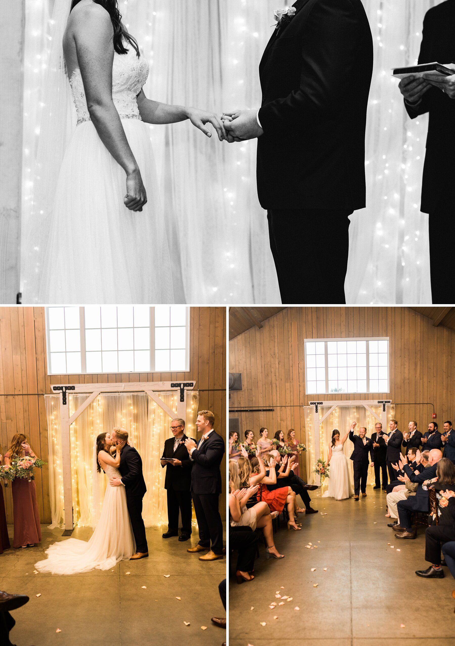 The Barn At Raccoon Creek Wedding Indoor Ceremony In 2020 Denver Wedding Denver Wedding Venue Denver Wedding Photographer