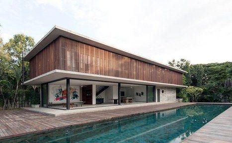 Design minimaliste et grand espace de vie ouvert pour cette maison
