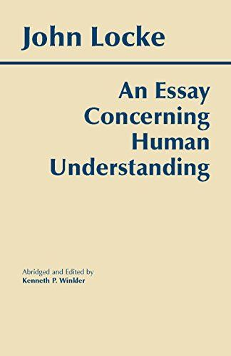 An Essay Concerning Human Understanding Hackett Classic Word Philosophy Book Writing A Critical On Leo Tolstoy The Death Of Ivan Ilyich