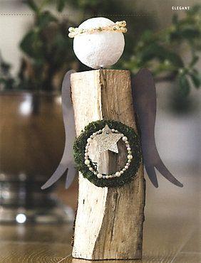 Weihnachtsdeko Bei Weltbild.Himmlische Kaminholz Engel Vintage Vanoce Engel