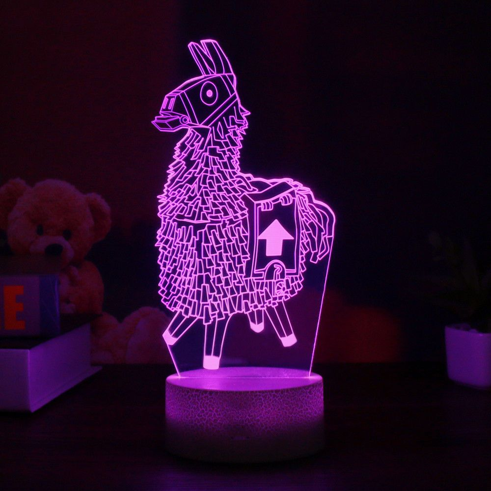 Fortnite Game Series Usb 3d Night Light Led 7 Color Decorative Table Lamp Led Night Lamp Baby Room Diy Boys Night Light