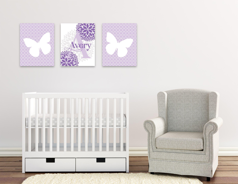 Butterfly Baby Girl Nursery Wall Art Butterfly Personalized Nursery Decor Laven Personalized Nursery Decor Baby Girl Nursery Wall Art Baby Nursery Wall Decor [ 2314 x 3000 Pixel ]