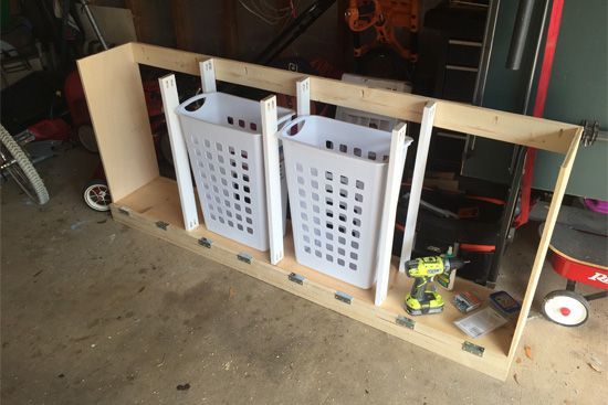 Photo of Laundry Sorter with Vertical Supports in Place