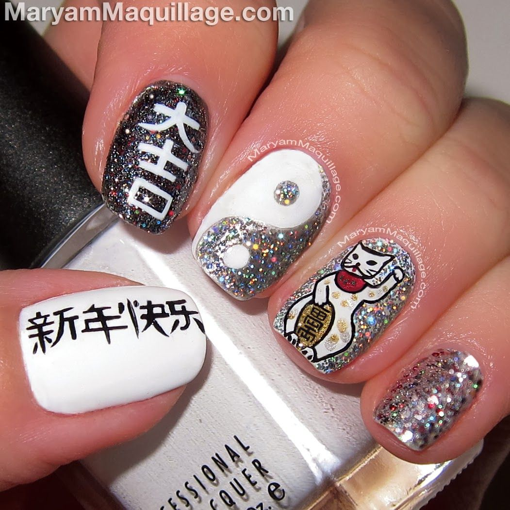 Maryam Maquillage: Chinese New Year Nail Art & Makeup for Asian Eyes ...