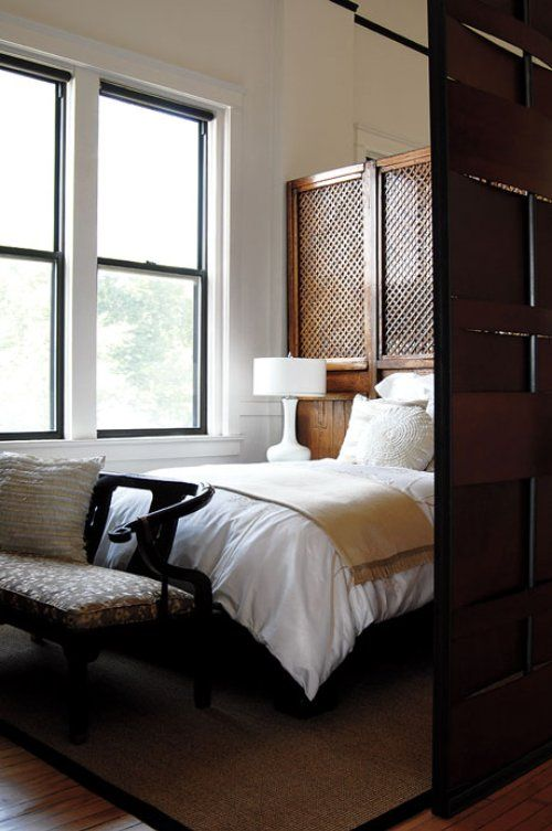 Wonderful Love The Wood Screen, For Separating Bedroom Area From Exercise Equipment